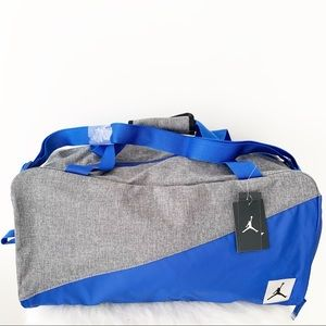 NIKE Jordan Duffel Bag Travel Duffle Gym Blue New